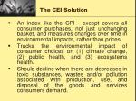 the cei solution