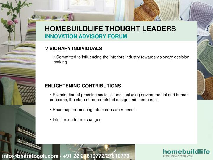 HOMEBUILDLIFE THOUGHT LEADERS