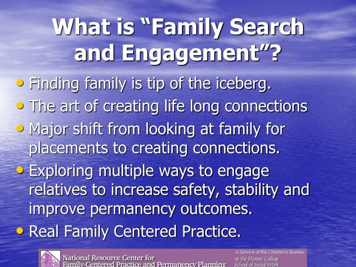 "What is ""Family Search"