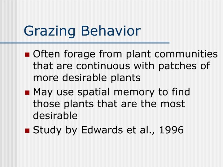 Grazing Behavior