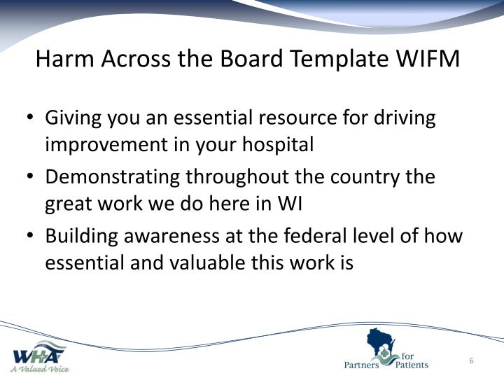 Harm Across the Board Template WIFM