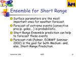 ensemble for short range