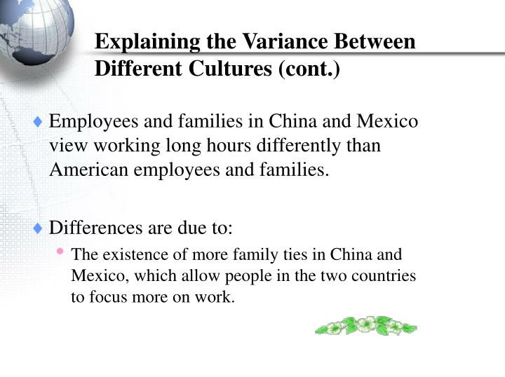 cultural differences between the u s and mexican cultures business essay About indian culture indian culture is the ancient and one of the most popular cultures in the world india is very well known for its rich cultural heritage which is a combination of customs, traditions, lifestyle, religion, languages, rituals, cuisine, etc depending upon area.