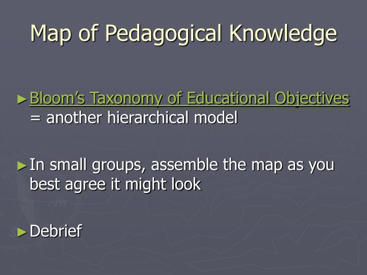 Map of Pedagogical Knowledge