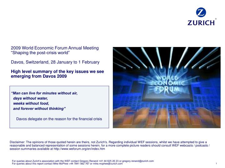 2009 World Economic Forum Annual Meeting