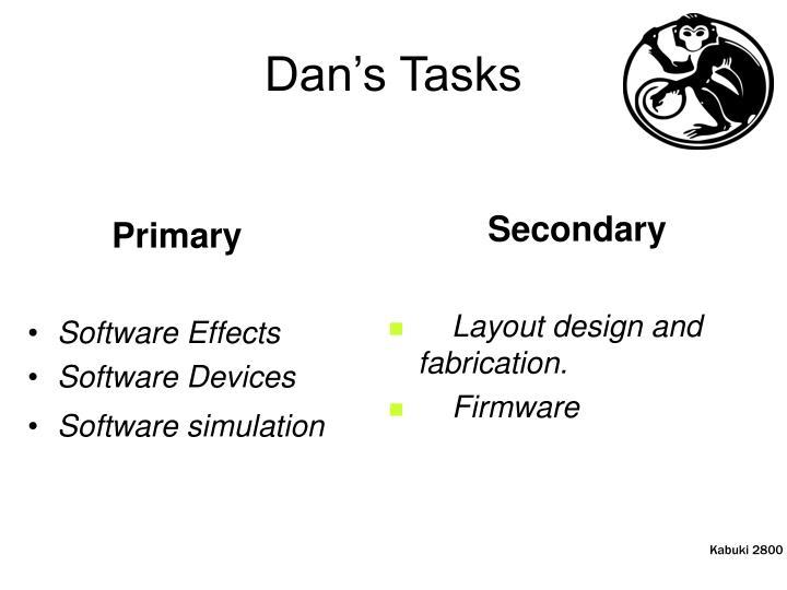Dan's Tasks