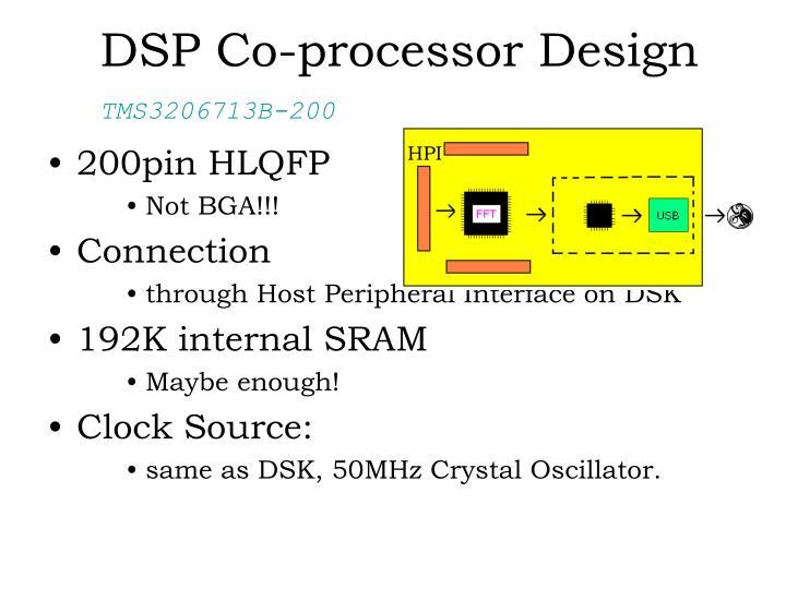 DSP Co-processor Design