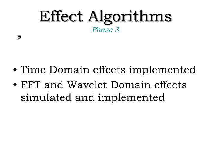 Effect Algorithms