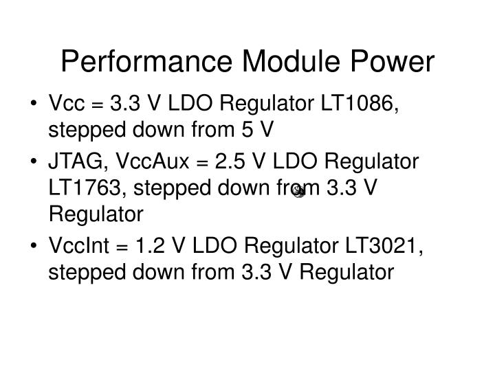 Performance Module Power