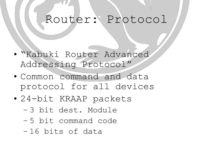 Router: Protocol