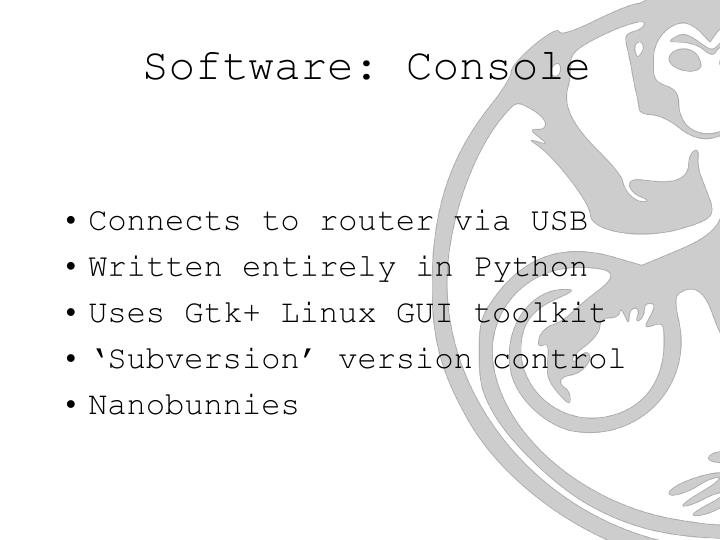Software: Console