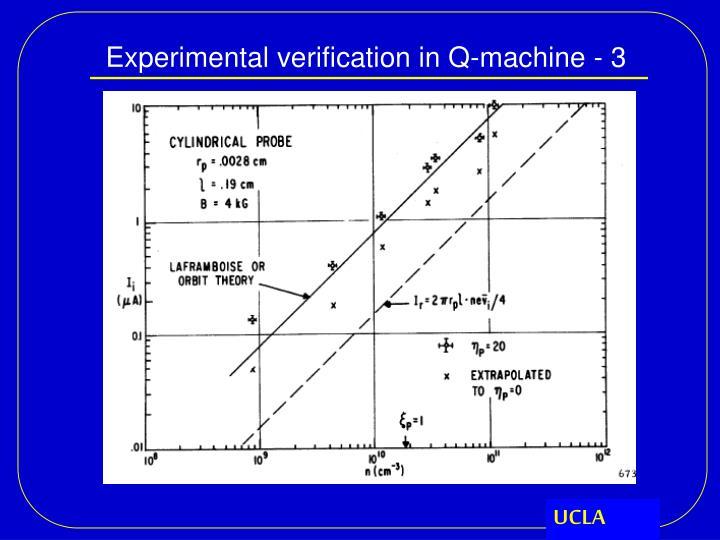 Experimental verification in Q-machine - 3