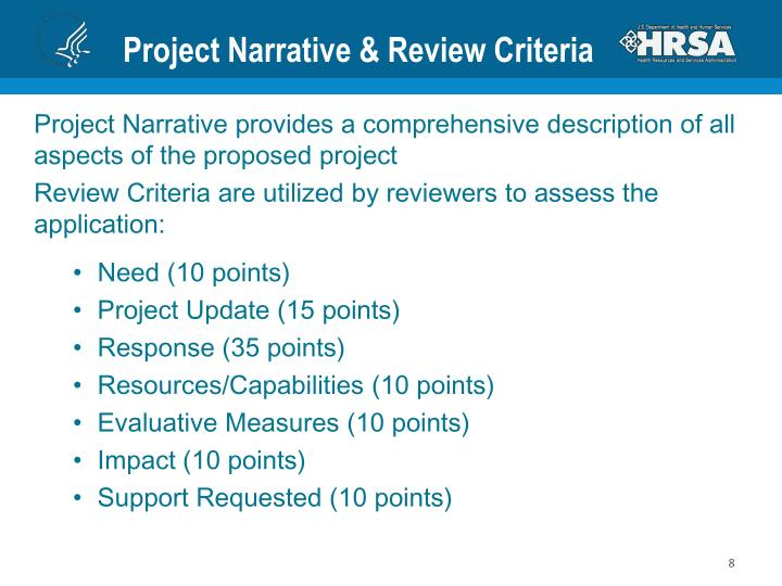 Project Narrative & Review Criteria