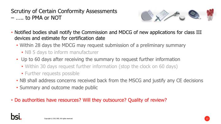 Scrutiny of Certain Conformity Assessments