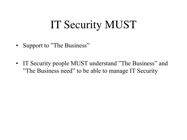 It security must