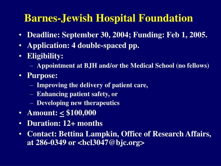 Barnes jewish hospital foundation