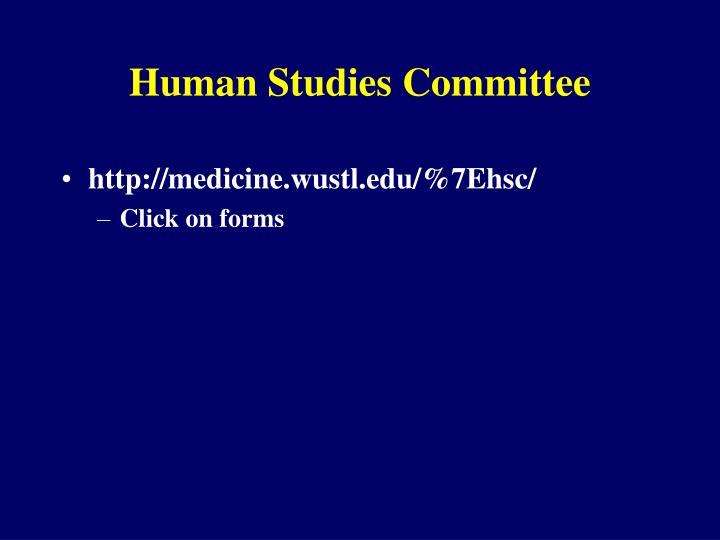 Human Studies Committee