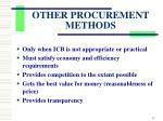 other procurement methods