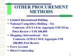 other procurement methods2