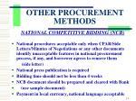 other procurement methods3