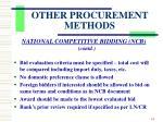 other procurement methods4