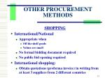 other procurement methods5