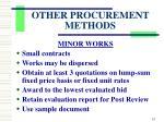 other procurement methods8