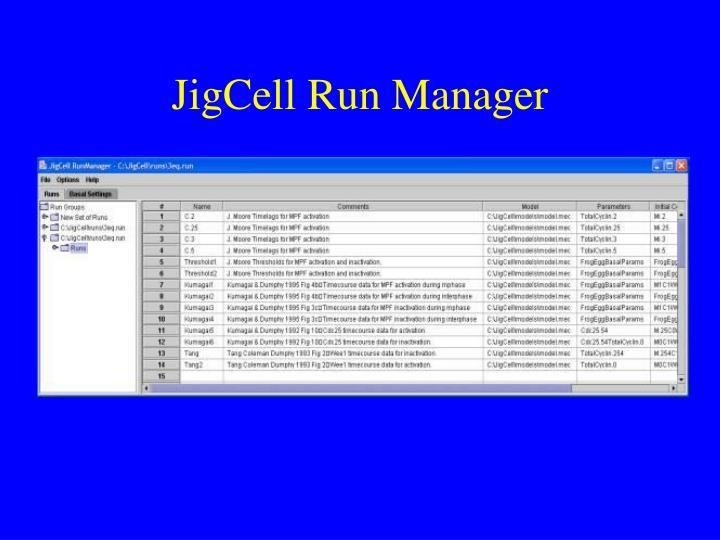 JigCell Run Manager