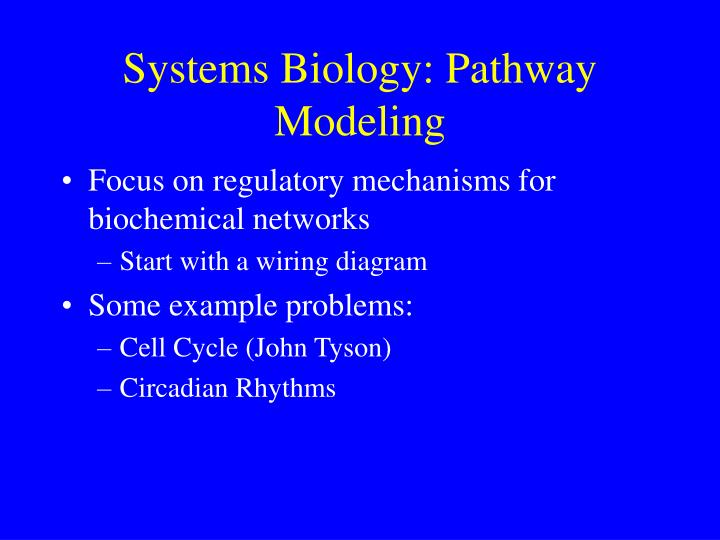 Systems Biology: Pathway Modeling