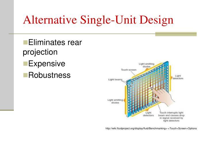 Alternative Single-Unit Design