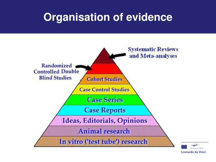 Organisation of evidence