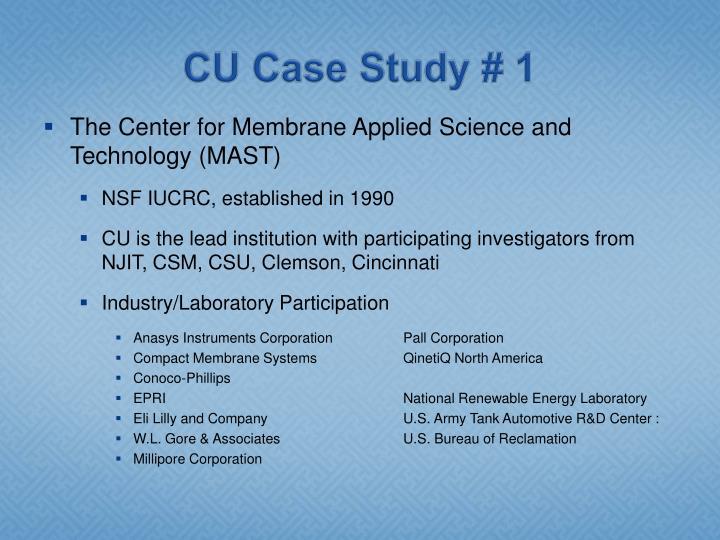 CU Case Study # 1