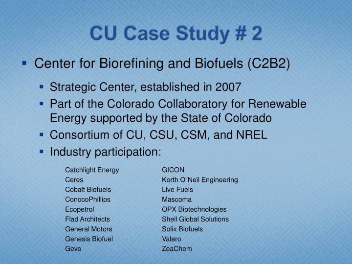 CU Case Study # 2