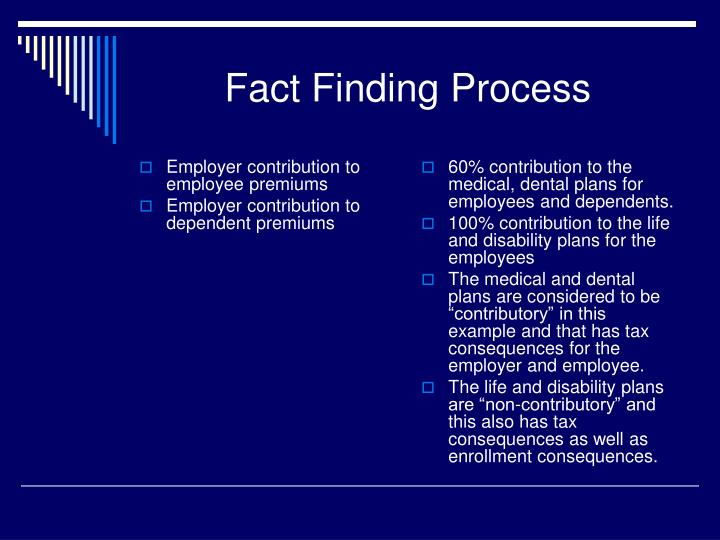 Employer contribution to employee premiums