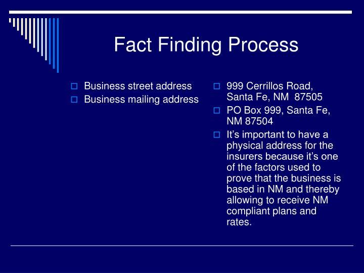 Business street address