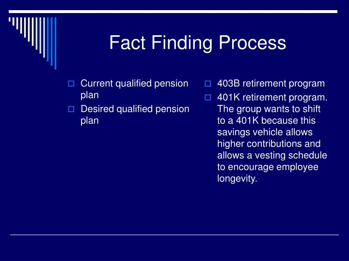 Current qualified pension plan