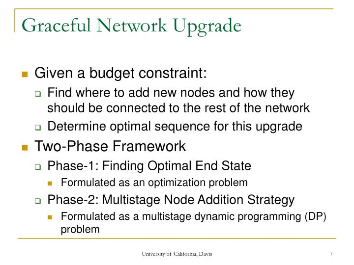 Graceful Network Upgrade
