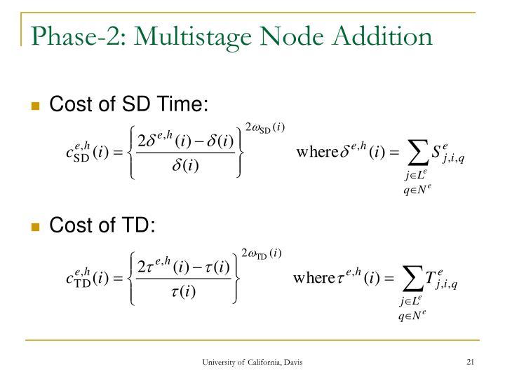 Phase-2: Multistage Node Addition