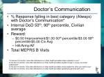 doctor s communication