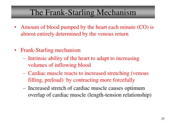 The Frank-Starling Mechanism