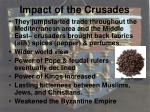 impact of the crusades