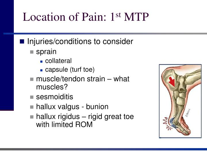Location of Pain: 1
