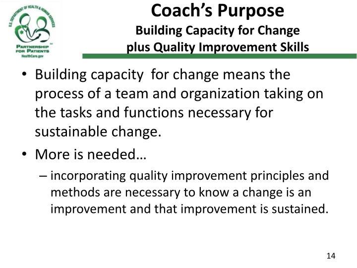 Coach's Purpose
