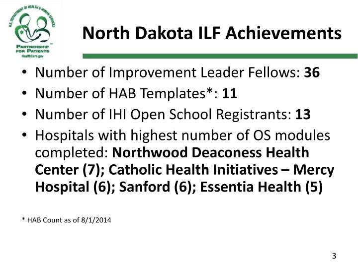 North dakota ilf achievements