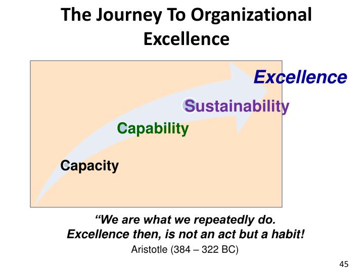 The Journey To Organizational Excellence