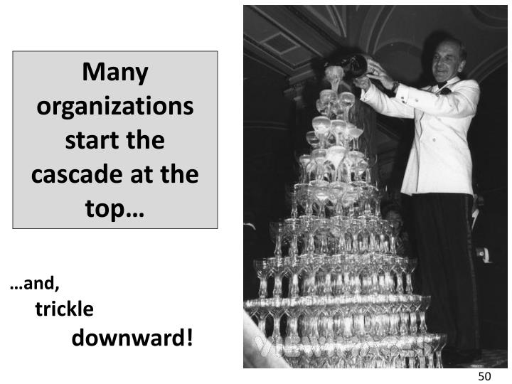Many organizations start the cascade at the top…