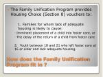 how does the family unification program fit in