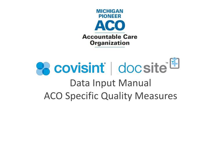 data input manual aco specific quality measures n.