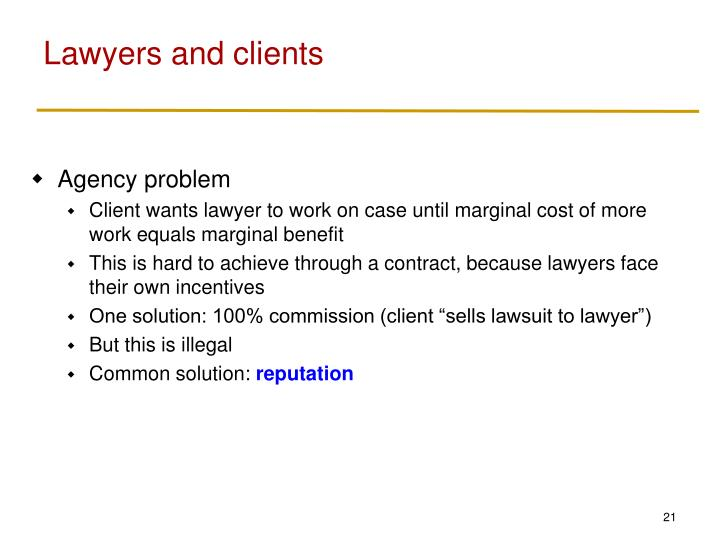 Lawyers and clients
