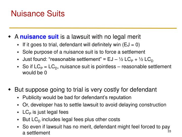 Nuisance Suits